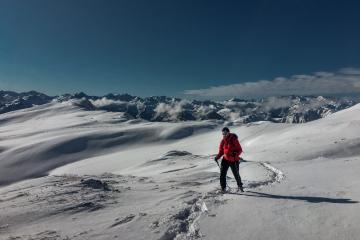 Sergio Echauri guía de montaña. Raquetas de nieve en invierno